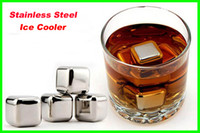 Wholesale Lowest Price Stainless Steel Ice Cube Whiskey Chilling Stones Cooler Drink Chiller set