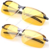 Wholesale Men s Polarized Driving Sunglasses Yellow Lens Night Vision Driving Glasses Goggles Reduce Glare