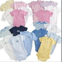 Wholesale newborn infant baby toddler short sleeve rompers baby gift set