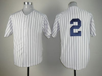 Wholesale Derek Jeter Majestic Home Pinstripe Number Only Yankees MLB Jersey Soft Comfortable Stitched Baseball Jerseys Hot Brand Baseball Wears