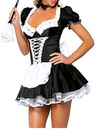 Wholesale - hot-Sexy lingerie sexy maid costume dress M8373 Black one size:S-M