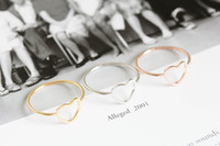 Band Rings Fashion Rings  Women's Free shipping Best Sell Product Fashion rings Size 7 three color Love open Heart Top of Finger Over The Midi Tip Finger Above Knuckle Ring