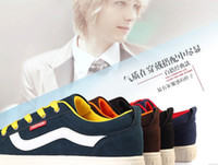 Wholesale Factory Spring new PU leather suede shoes men shoes Korean men skateboard shoes
