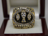 With Side Stones Bezel setting Brass Fans 1988 Super Bowl San Francisco 49er Copper National Football League Cubic Zircon Championship CZ Champion Rings Fans