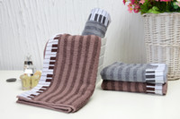 Wholesale 2014 Piano style Face Towel Size quot x29 quot x74cm Pure cotton SPA Wrap Jacquard Bath towel