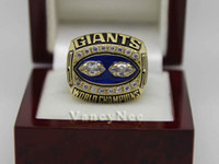 With Side Stones Bezel setting Brass 1990 Super Bowl New York Gaints Simms Copper National Football League Cubic Zircon Championship CZ Champion Rings Size 10 11 12