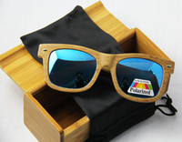Wholesale 2014 Pure Bamboo amp wood sunglasses with cases and pouches