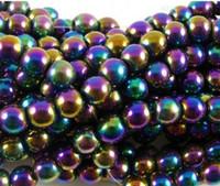 Wholesale 10mm Fasion Multicolor Hematite Loose ball Beads Shamballa Findings Fit DIY Bracelet Bead for bracelet hotsale DIY Findings Jewelry