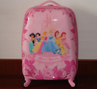 Wholesale Big The princess luggage Cuties child school bag eggshell school bag picture trolley travel bags rolling kids luggage