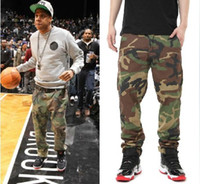 Wholesale Men s Army Green Style Jay z camo pants slim Camouflage casual trousers overalls Hip hop sport Trousers