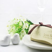 Wholesale SETS SET OF Newest wedding favor love bird salt pepper shaker Wedding favors party gift supplies