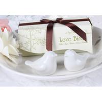 Wholesale quot Love Birds in the Window quot Salt Pepper Ceramic Shakers Wedding Party Favor