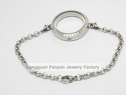 Panpan 30mm 316L Stainless steel magnetic locket bracelet