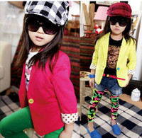 Girl baby girl blazers - New arrival summer baby girl cute candy color cool blazers kids spring autumn high quality cotton coat children fashion jackets T melee