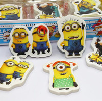 Wholesale Yellow stationery god steal pa despicable me cartoon cute mini eraser