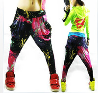 Wholesale 2014 New Brand Jazz Womens Casual Harem Baggy Hip Hop Dance Sport Sweat Pants Slacks