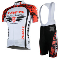 Short Anti Bacterial Unisex trek 2013 world racing cycling clothes Pro team cycling jersey sets with bib short coolmax trek fashion bike riding wear Free shipping