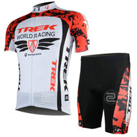 Short Anti Bacterial Unisex trek - 2013 world racing Cycling Jersey and compress short trek pro biking suits Mountain mtb Riding Cycling Clothes Fress Shipping