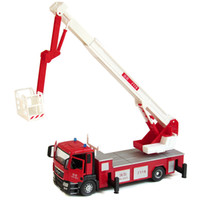 Car Metal Red Large fire ladder truck fire truck alloy car toy car model