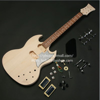 other other Basswood Sg electric guitar semi finished bassos maple fingerplate rose wood belt