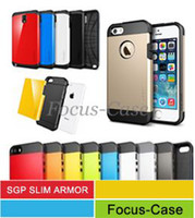 Wholesale SPIGEN SGP Tough Armor Cases For iPhone C S S Slim Armor For Galaxy Note Note S3 S4 With Retail Package Mixed Order DHL Free