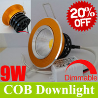 Wholesale Best Sale OFF COB inch W W LED Downlight LM Recessed Cabinet Lamps Angle Ceiling Down Lights Power Supply CE amp ROHS CSA