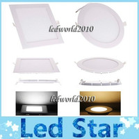 Wholesale Ultra thin W led ceiling light W W W W high power warm cool white led panel downlights lamp AC V CE ROHS FCC