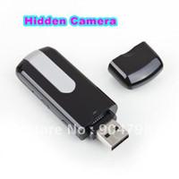 Less than 2'' Less than 10x 720P (HD) 10pcs Mini Hidden DV DVR U8 USB Disk HD Camera Cam Motion Detector Recorder 720x480 Worldwide FreeShipping