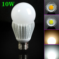 Wholesale E27 W Support Dimmable White Warm White LM Super Brightness COB LED Bulb Light V CE ROHS