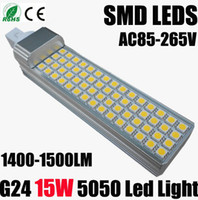 Wholesale Cree G24 Led W W Led Bulb SMD Leds Corn Lamp Light Warm Cool White Lumens V CE ROHS
