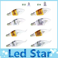 Wholesale Cree LED E14 E12 Candle bulbs light lamp high power Dimmable W led spotlights Warm Pure Cool White led lamps V V CE ROHS CSA FCC