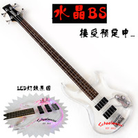 Wholesale Crystal guitar tibesti crystal electric bass led lighting pb bass