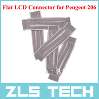 Best Flat LCD Connector for Peugeot 206 Dasboard 5pcs Lot Free Shipping