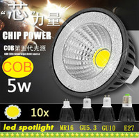 Wholesale Dimmable GU10 E27 E26 E14 GU5 MR16 Led COB Spotlights Lamp lm Warm Natural Cool White Led Bulbs Light V V CE ROHS CSA UL