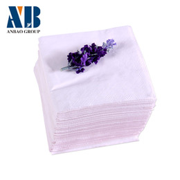 Wholesale 230 mm double layer solid color table napkin paper haplostele wood pulp pumping