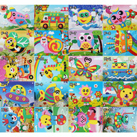 Wholesale Foam Art Kit Children Educational Toys EVA D DIY Sticker Puzzle Style