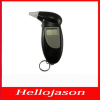 Wholesale 9122 for retail by HONGKONG post Key Chain Digital Breathalyzer Alcohol Breath Analyze Tester With Attachment