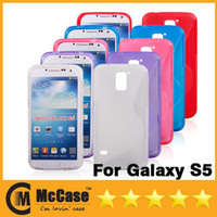 Wholesale Galaxy S5 TPU Case Newest S Line Soft TPU Gel Cover Cases For Samsung Galaxy S5 I9600 SV l