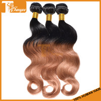Wholesale Ombre Hair Weave Virgin Brazilian Hair Body Wave Cheap Human Hair Extensions Ombre Color b Two Tone Color Remy Hair Weft