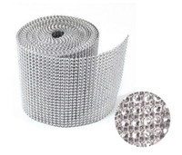 rhinestone cake banding - 24 Row x10 Yard Crystal Rhinestone Banding Trimming Ribbon For Cake Decor Wedding Party Home
