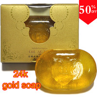 Wholesale New Item K Gold Soap Skin Whitening Facial and Body Bath Soap Anti Wrinkle Soap Anti Aging Soap
