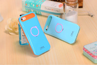 i-glow cases - i Glow phone case cover Noctilucent Ring Stand holder Plastic Phone Case Cover Shell For iPhone S iPhone s with retial packing
