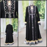 Real Photos High Neck Chiffon Elegant Real Picture Sash Elie saab Straight Cap Sleeve Full Sleeve Black Chiffon Plus Size Kaftan Abaya Dress for Dubai
