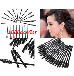 Wholesale 1000pcs Disposable Mascara Wands Applicator Black Tinting Eyelash Brushes Tool For Eyelash Extension