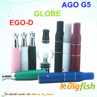 Wholesale Kingfish Electronic Cigarette Atomizer ago g5 dry herb atomizer bulb globle tank and ego d wax atomizer E Cigarette Atomizer ego atomizer
