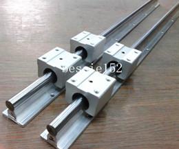 Wholesale 2 sets SBR20 mm quot linear rail bearing slide guide shaft SBR20UU linear motion bearing