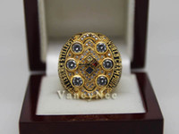 With Side Stones Bezel setting Brass Fans 2008 Super Bowl Pittsburgh Steeler Copper Champion Football League Cubic Zircon Championship CZ Rings Size 10 11 12 A+