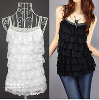Wholesale Women s Lace Camis Vest Tops Fashion Girls Ladies Lace Dress Ladies Sleeveless Casual Dress