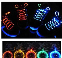 Shoelaces Neutral led 300pcs(150 pairs) LED Flashing Shoe Lace Fiber Optic Shoelace Luminous Shoe Laces Light Up Shoes lace
