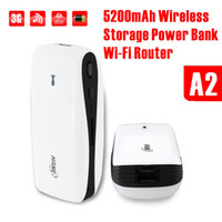Wholesale 3G Wifi Wireless Storage Power Bank Router Built in mAh Rechargeable Battery HAME MPR A2 CE FCC